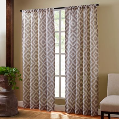 Sedona 63-Inch Rod Pocket Sheer Window Curtain Panel in Taupe