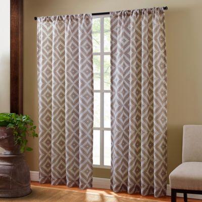 Sedona 108-Inch Rod Pocket Sheer Window Curtain Panel in Taupe