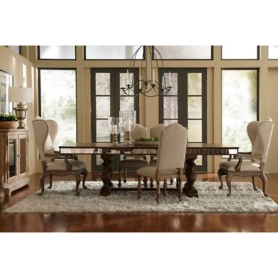Pulaski Alekto 7-Piece Dining Set with Mirrored Finish
