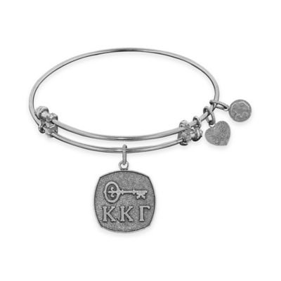 Angelica Collection Silvertone Kapa Kappa Gamma Sorority Charm Bangle Bracelet