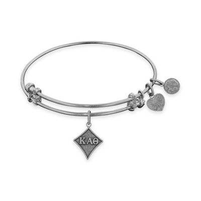 Angelica Collection Silvertone Kappa Alpha Theta Sorority Charm Bangle Bracelet