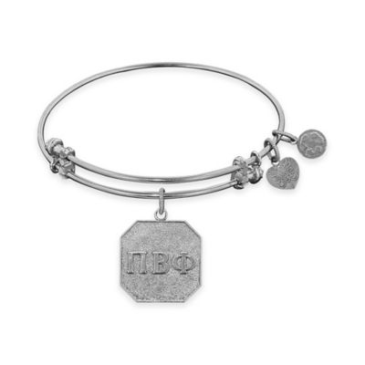 Angelica Collection Silvertone Pi Beta Phi Sorority Charm Bangle Bracelet