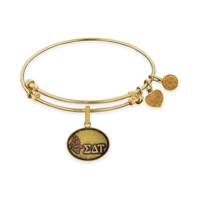 Angelica Collection Goldtone Sigma Delta Tau Sorority Charm Bangle Bracelet