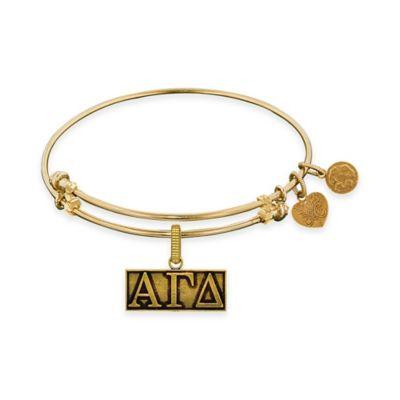 Angelica Collection Goldtone Alpha Gamma Delta Sorority Charm Bangle Bracelet