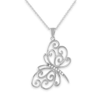White Butterfly Pendant