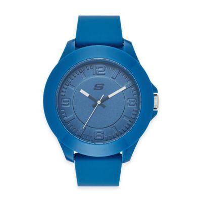 Skechers® Men's 50mm Watch in Blue Plastic w/ Blue Polyurethane Strap