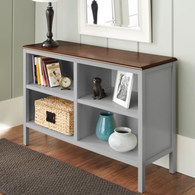 Chatham House Baldwin Horizontal Bookcase in Grey