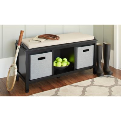 Black Entryway Bench