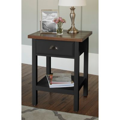 Chatham House Newport Accent Table with Drawer in Grey