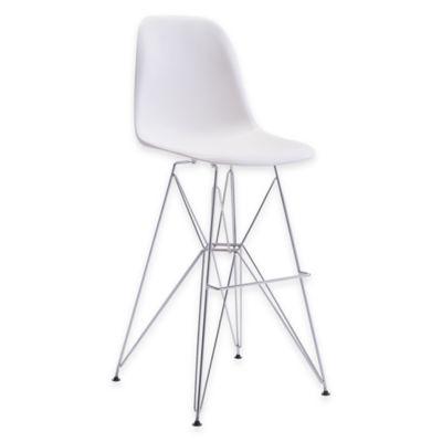 Zuo® Zip Bar Chair in White