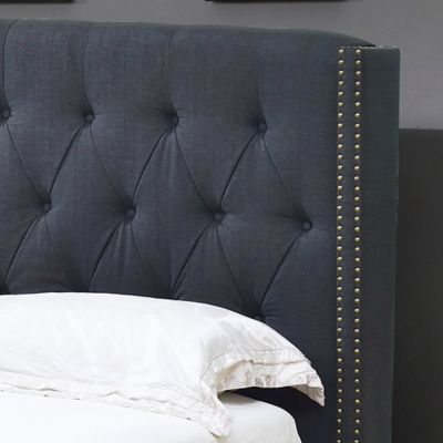 Charcoal Wingback Beds
