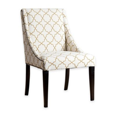 Abbyson Living® Lattice Swoop Dining Chair in Gold