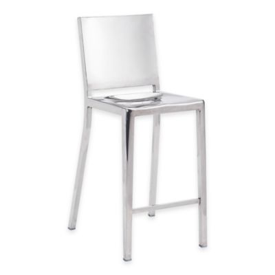 Zuo® Fall Bar Chair in Stainless Steel
