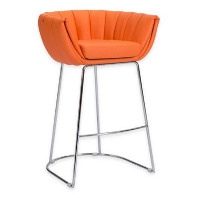 Zuo® Latte Bar Chair in Orange (Set of 2)