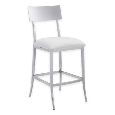 Zuo® Mach Counter Barstools in White (Set of 2)