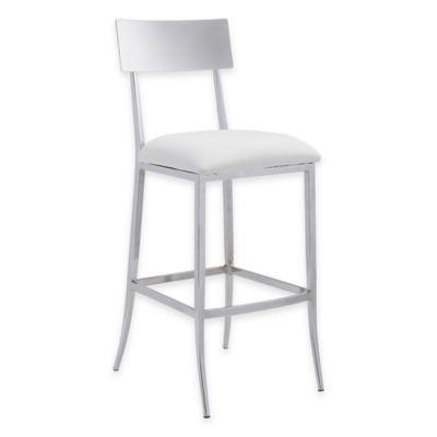 Zuo® Mach Barstool in White