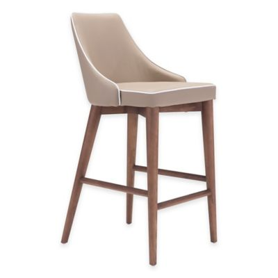 Zuo® Moor Bar Chair in Dark Grey