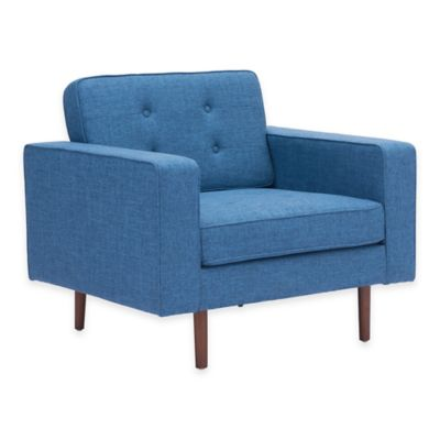 Zuo® Puget Arm Chair in Blue