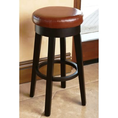 Abbyson Living Camilia Bonded Leather Counter Stool in Black