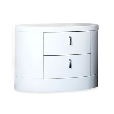 Abbyson Living® 2-Drawer Jengo Nightstand in White