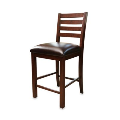 Abbyson Living® Messina Leather Counter Stool (Set of 2)