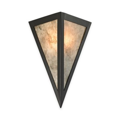 Elk Lighting Mica 1-Light Wall Sconce in Oil-Rubbed Bronze with Cream Glass Shade