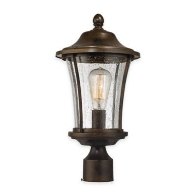 Elk Lighting Morganview 1-Light Outdoor Post Lantern in Hazelnut Bronze