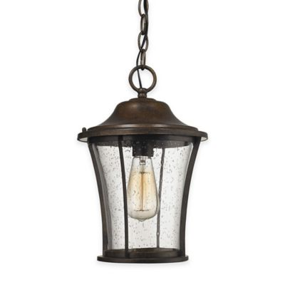 Elk Lighting Morganview 1-Light Outdoor Pendant in Hazelnut Bronze