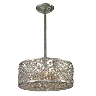 Elk Lighting Renaissance 4-Light Semi-Flush Mount in Sunset Silver