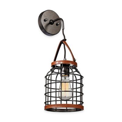 Elk Lighting Purcell 1-Light Wall Pendant in Weathered Iron