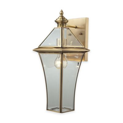 ELK Lighting Riverdale Large 1-Light Outdoor Wall-Mount Sconce in Brushed Brass
