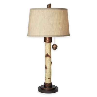 Pacific Coast® Lighting Birch Tree Table Lamp with Tapered Drum Shade