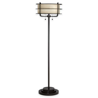 Buy Kathy Ireland Home Orbit Floor Lamp In Bronze W Cream