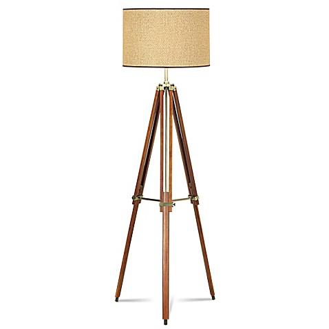 pacific coast lighting tripod floor lamp with drum shade. Black Bedroom Furniture Sets. Home Design Ideas