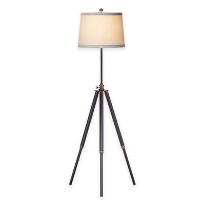 Pacific Coast® Lighting Tripod Floor Lamp with Tapered Drum Shade in Bronze