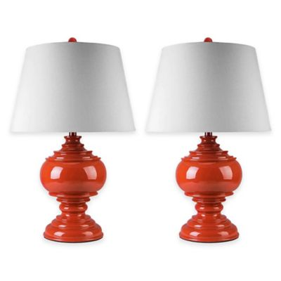 Abbyson Living® Alexis Table Lamp (Set of 2) in Red