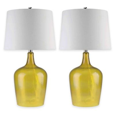 Abbyson Living® Delmore Glass Table Lamps in Amber (Set of 2)