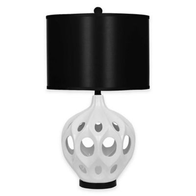 Abbyson Living® Eva Ceramic Table Lamp in White