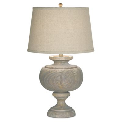 Pacific Coast® Lighting Kathy Ireland Grand Maison Table Lamp in Grey with Linen Shade