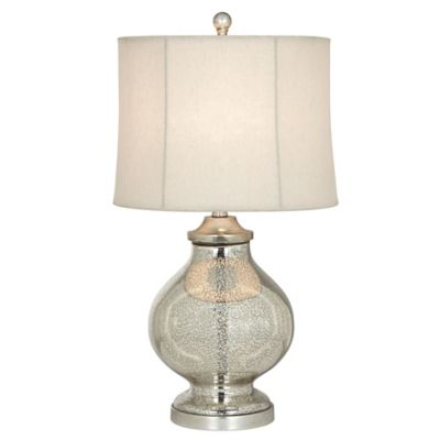 Silver with Drum Shade Lamps