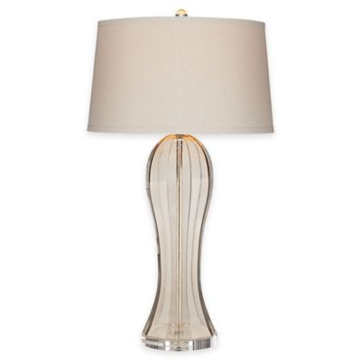 Pacific Coast® Ocean Terrace Table Lamp in Champagne with Tapered Drum Shade