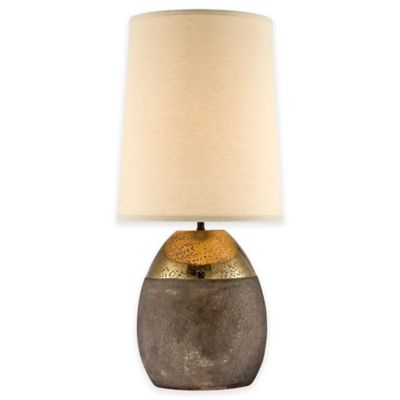 Pacific Coast® Lighting Oly Table Lamp in Brass with Linen Shade