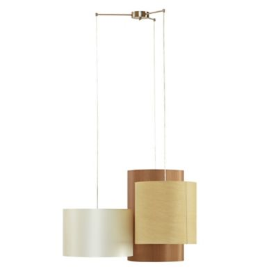 INK+IVY Roman 3-Shade Chandelier in Natural