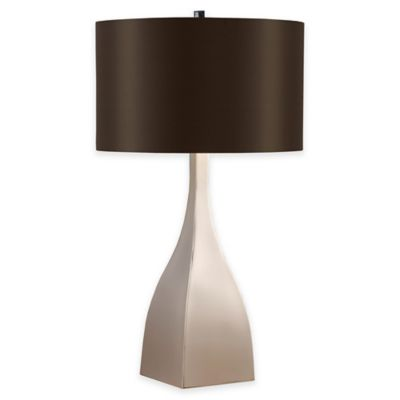 INK+IVY Anza Silver Metal Table Lamp