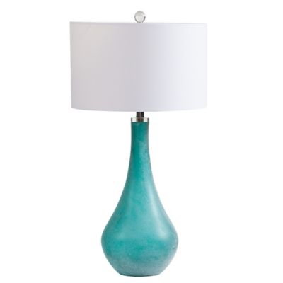 Ink + Ivy Cove Art Glass Table Lamp in Blue/Green
