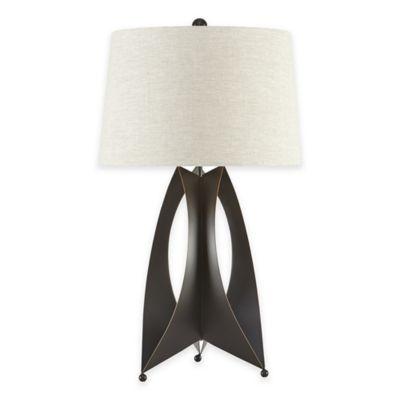 INK+IVY Taraval Metal Table Lamp in Black