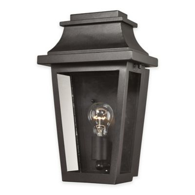ELK Lighting Covina 1-Light Outdoor Wall Sconce in Matte Black