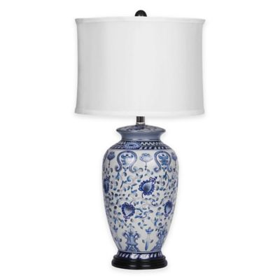 Abbyson Living® Hand-Painted Asian Table Lamp in Blue