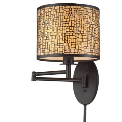ELK Lighting Medina Swingarm 1-Light Wall Sconce in Oil-Rubbed Bronze