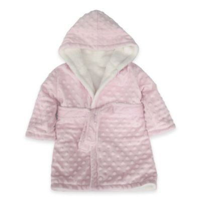 Blankets & Beyond Super Plush Bump Bathrobe in Pink